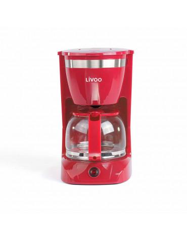 livoo Cafetière filtre 12 tasses 800w rouge livoo