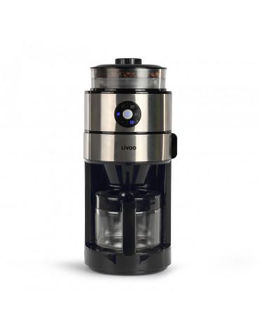livoo Cafetière filtre 6 tasses 820w avec broyeur intégré livoo