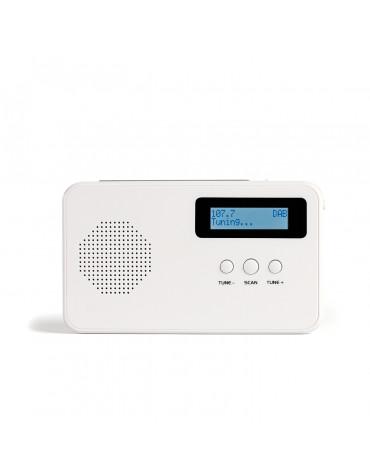 Radio portable numérique dab/dab+ blanc