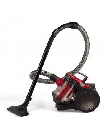 livoo aspirateur sans sac aada 78db noir/rouge doh105r