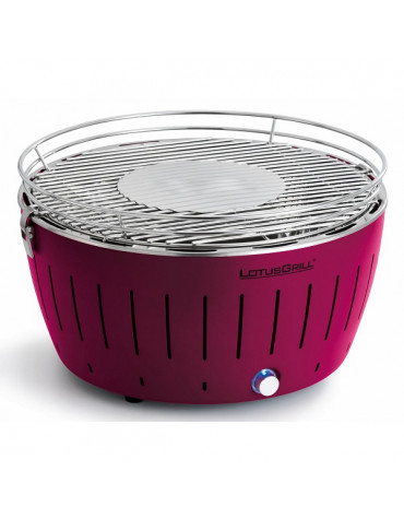 lotusgrill Barbecue à charbon portable 35cm prune avec housse lotusgrill