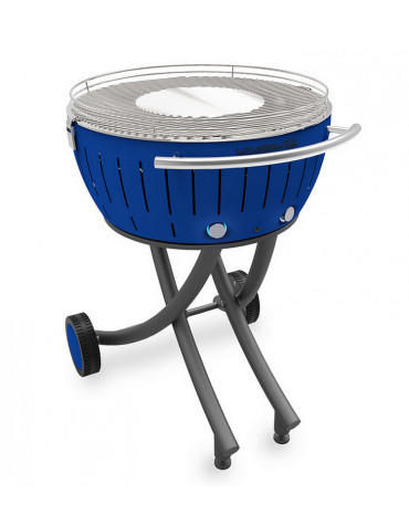 lotusgrill Barbecue à charbon portable 60cm bleu lotusgrill