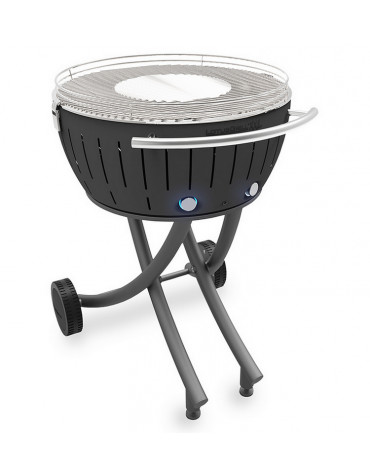 lotusgrill Barbecue à charbon portable 60cm gris lotusgrill