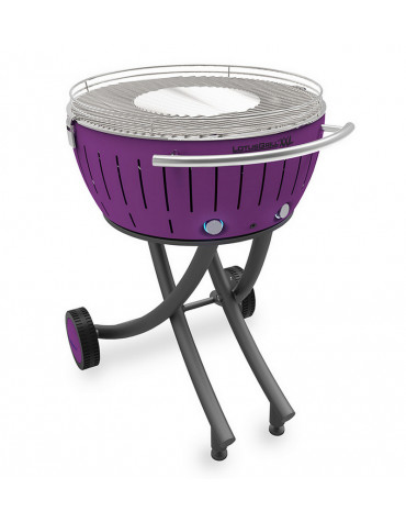 lotusgrill Barbecue à charbon portable 60cm lilas lotusgrill