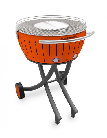 lotusgrill Barbecue à charbon portable 60cm orange lotusgrill