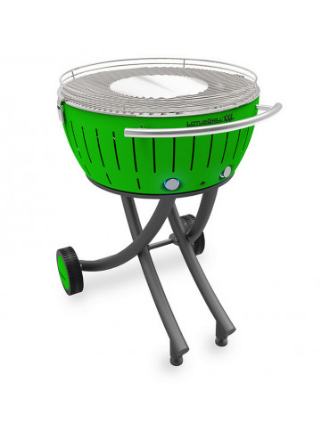 lotusgrill Barbecue à charbon portable 60cm vert lotusgrill