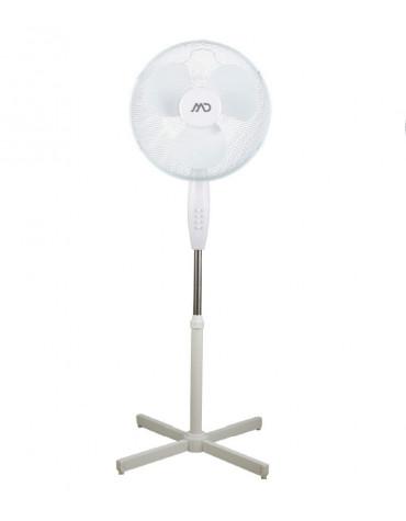 md home Ventilateur sur pied 40cm 40w 3 vitesses blanc md home