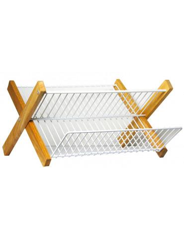 metaltex Egouttoir pliable cadre en bois metaltex