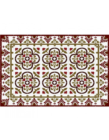 mosaiko Tapis de cuisine 50x100cm rouge mosaiko
