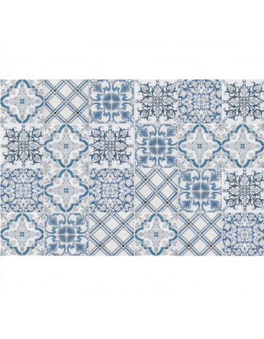 mosaiko Tapis de cuisine 50x140cm bleu/gris mosaiko