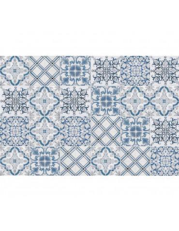 Tapis de cuisine 66x100cm bleu/gris