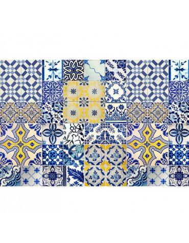mosaiko Tapis de cuisine 66x100cm jaune/bleu mosaiko