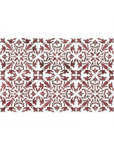 mosaiko Tapis de cuisine 66x100cm rouge mosaiko