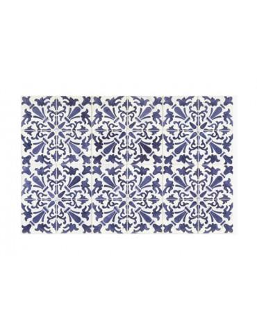 mosaiko Tapis de cuisine 66x150cm bleu mosaiko
