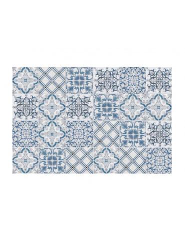 Tapis de cuisine 66x150cm bleu/gris