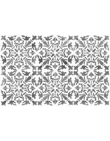 mosaiko Tapis de cuisine 66x150cm gris mosaiko