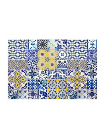mosaiko Tapis de cuisine 66x150cm jaune/bleu mosaiko