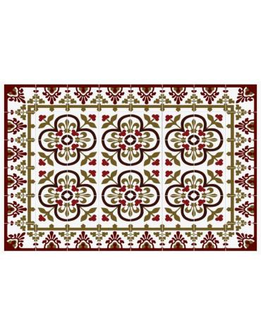 Tapis de cuisine 66x150cm palais rouge