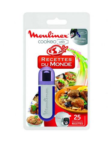 moulinex Clé usb 25 recettes du monde pour cookeo moulinex