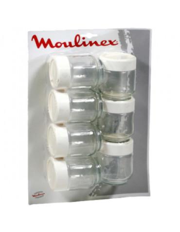 Lot de 7 pots pour yaourtière moulinex