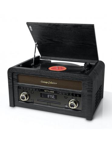 muse Platine vinyle/cd/usb stéréo 3 vitesses 33/45/78t muse