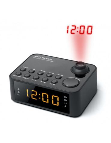 Radio-réveil avec projecteur noir