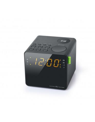 Radio-réveil double alarme noir
