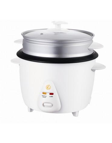 Cuiseur à riz 1.5l 500w blanc avec panier vapeur