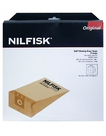 nilfisk Lot de 5 sacs pour aspirateur business series, gd1010 nilfisk