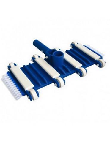 Balai aspirateur manuel 8 roues + brosses latérales