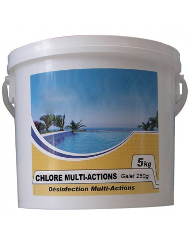 Chlore lent multi-fonctions galet 250g 5kg