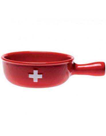 nouvel Caquelon à fondue céramique 22cm rouge nouvel