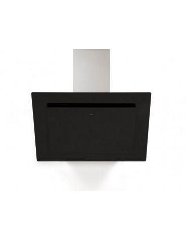 novy Hotte décorative inclinée 90cm 467m3/h verre noir novy