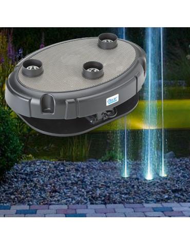 Jeu d'eau et lumière 3 ajutages 40 w