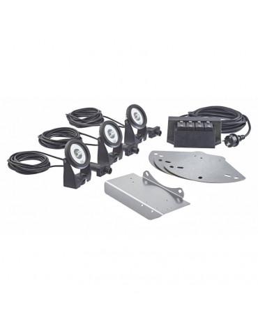 Kit d'éclairage led blanc 3 projecteurs pour pondjet eco