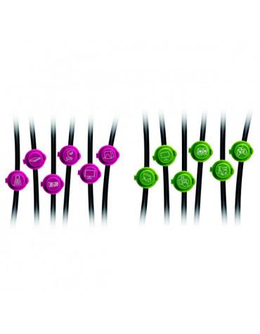 otio Pack de 12 clips d'identification des câbles otio