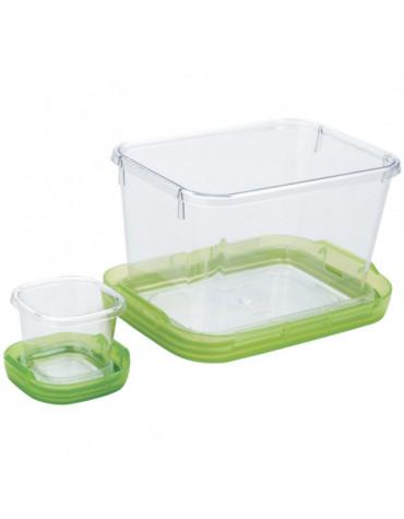 oxo Lot de 2 boîtes alimentaires 1,3l et 60ml sans bpa vert oxo
