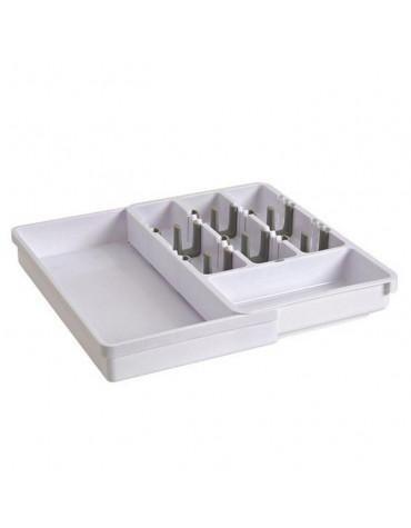 Range-couverts plastique tiroir extensible