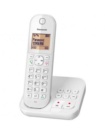 panasonic Téléphone sans fil dect blanc avec répondeur panasonic