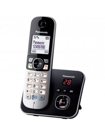 panasonic Téléphone sans fil dect noir/silver avec répondeur panasonic