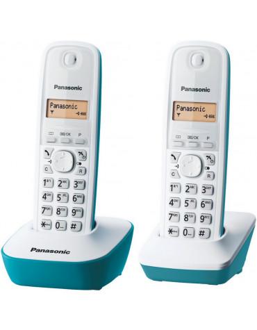 panasonic Téléphone sans fil duo bleu panasonic