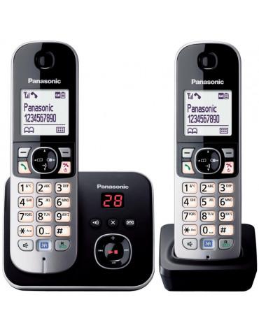 panasonic Téléphone sans fil duo dect avec répondeur noir/argent panasonic