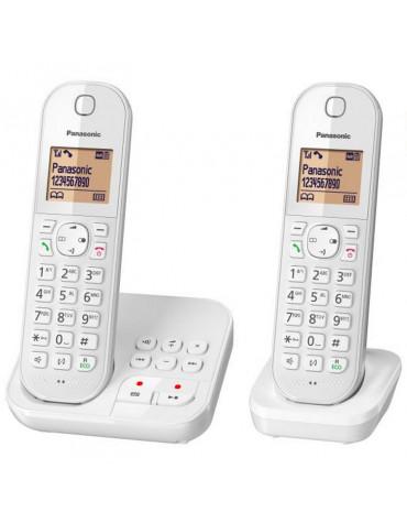 panasonic Téléphone sans fil duo dect blanc avec répondeur panasonic