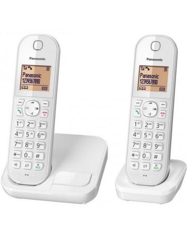 panasonic Téléphone sans fil duo dect blanc panasonic