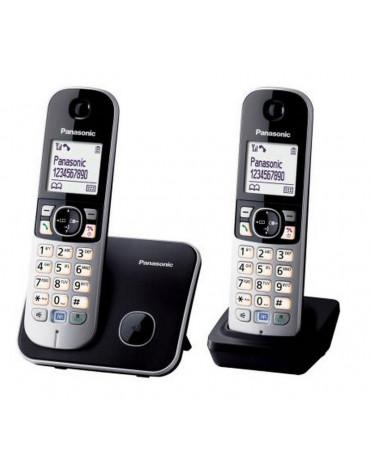panasonic Téléphone sans fil duo dect noir/argent panasonic
