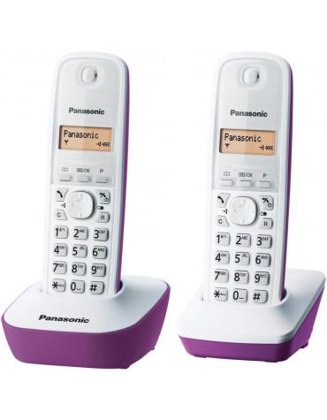 panasonic Téléphone sans fil duo dect pourpre panasonic