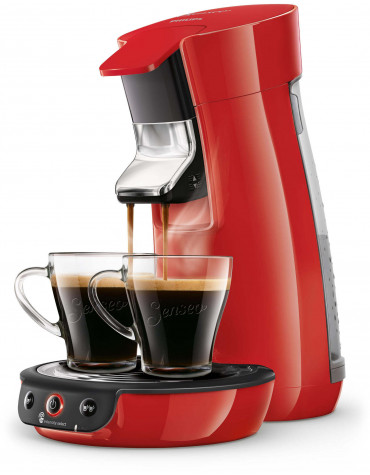 philips Cafetière à dosettes 1 bar 1450w rouge philips