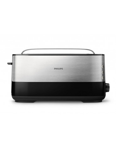 philips Grille-pains 1 fente 1030w noir/inox philips