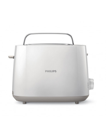 philips Grille-pains 2 fentes 830w blanc philips