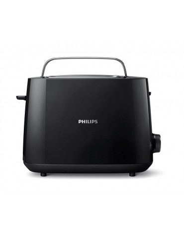 philips Grille-pains 2 fentes 830w noir philips
